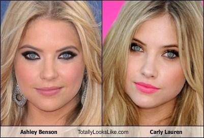 carly lauren,ashley benson,totally looks like,funny