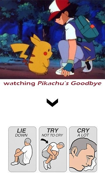 ash try not to cry anime pikachu - 7895936256