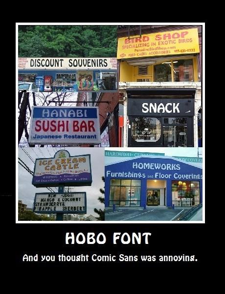 comic sans hobo funny font - 7896178176