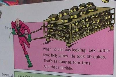 math parenting lex luthor textbooks story problems - 7896313600