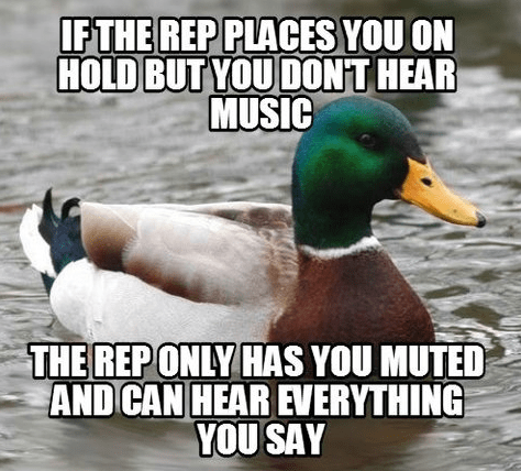 Actual Advice Mallard,tech support,call centers