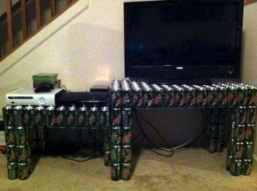 soda,mountain dew,entertainment center