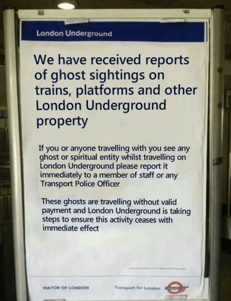 ghosts london underground g rated monday thru friday - 7896461568