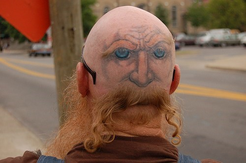 wtf,tattoos,funny,faces,g rated,Ugliest Tattoos