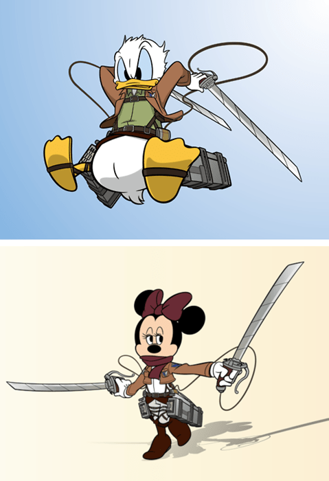 disney anime Fan Art attack on titan - 7896522496