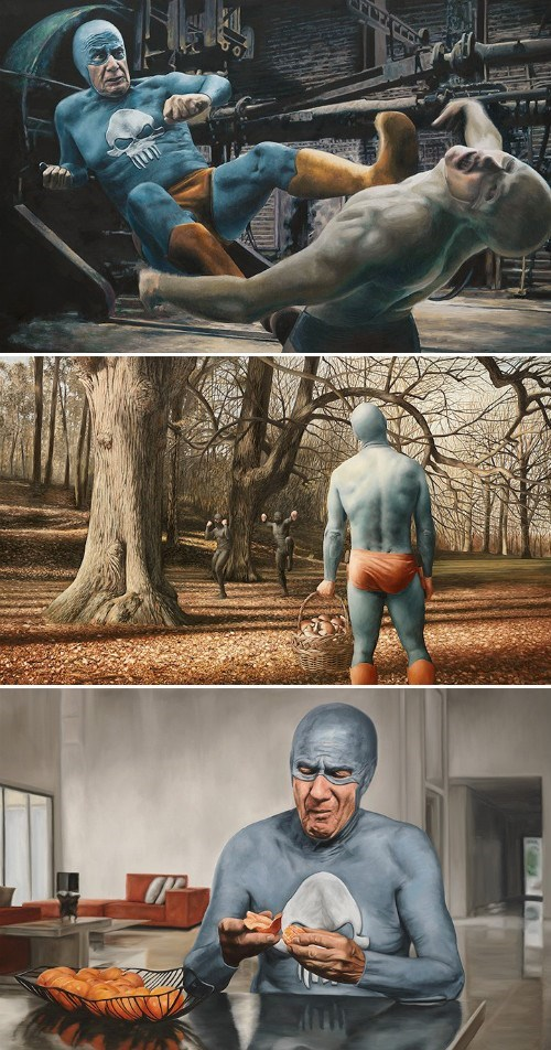 art aged superhero paintings - 7896651008