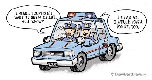 cliches cops donuts web comics - 7896702720
