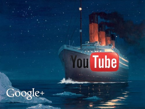 google+,titanic,youtube,google+,google+