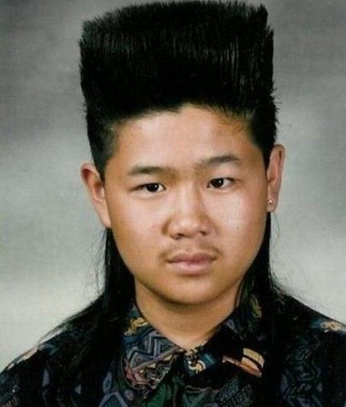 funny hair poorly dressed yearbook