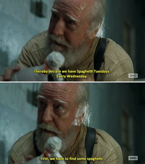 hershel greene The Walking Dead spaghetti tuesday