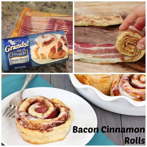 bacon food cinnamon rolls - 7896787712