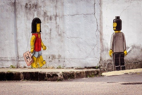 lego funny Street Art hacked irl