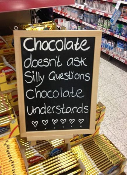 chocolate funny sign true facts - 7896860416