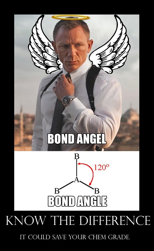 Chemistry,james bond,puns,school