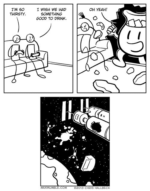 kool-aid man funny space web comics