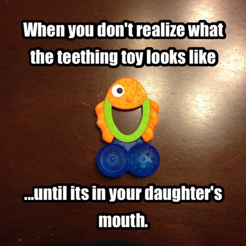 kids Awkward teething parenting - 7897023744