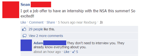 NSA internships job offers