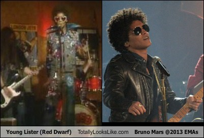 bruno mars,funny,red dwarf,totally looks like,young lister