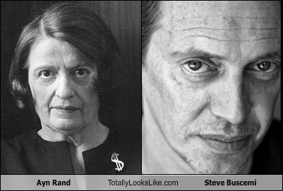 Ayn Rand,funny,totally looks like,steve buscemi