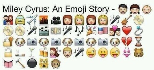 biography,hannah montana,emoji,miley cyrus