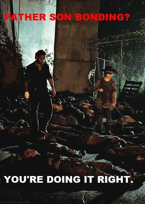 carl grimes bonding Rick Grimes The Walking Dead - 7897841152