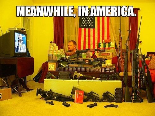 america guns anime lol
