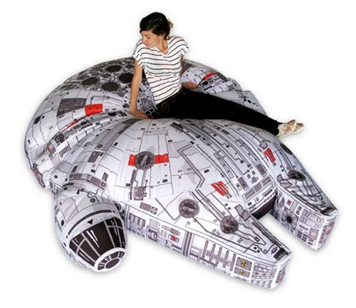 design funny star wars Pillow nerdgasm millennium falcon - 7897864448