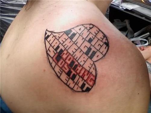 wtf text tattoos funny - 7897873664