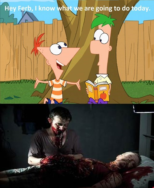mashup,phineas and ferb,The Walking Dead