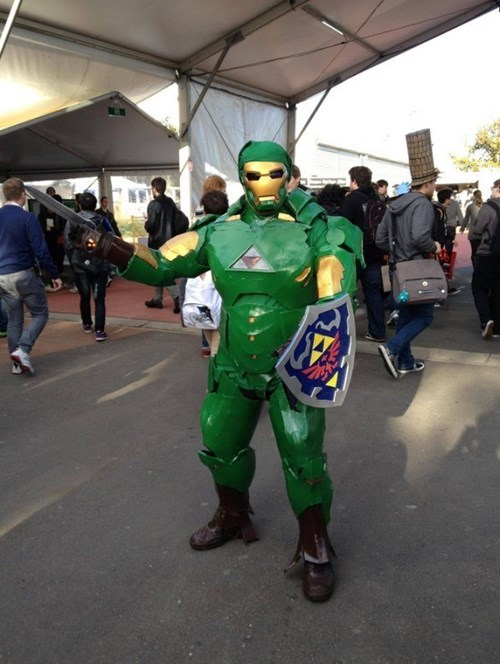 cosplay,link,iron man,zelda