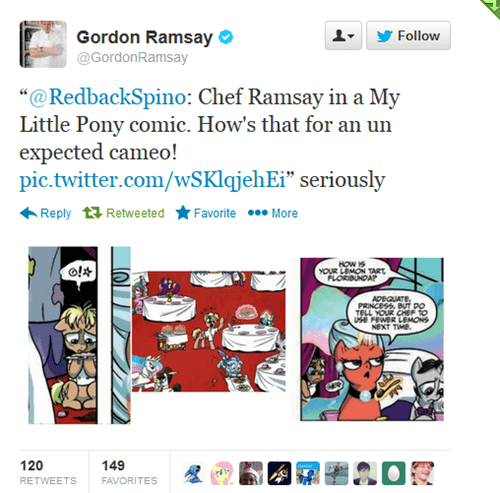 gordon ramsay celebrity twitter mlp comics - 7897958144
