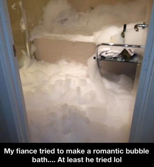 bubble bath,funny,whoops,romantic