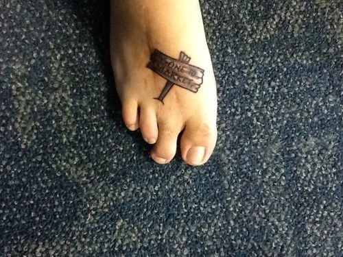 feet,funny,tattoos,good response,g rated,Ugliest Tattoos