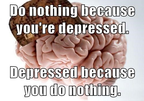 scumbag brain depression - 7898627584
