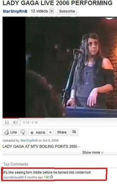lady gaga tom riddle youtube - 7899218432