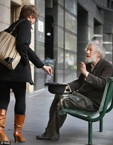 acting,mistaken identity,homeless,ian mckellan