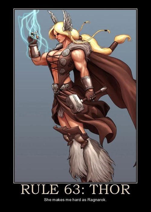 god,Thor,good looking,rule 63,funny