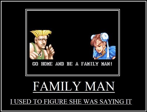 Guile,sex,chun li,family man,street fighter 2,funny