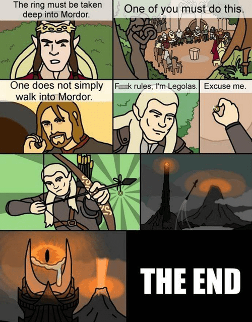 legolas Lord of the Rings funny web comics