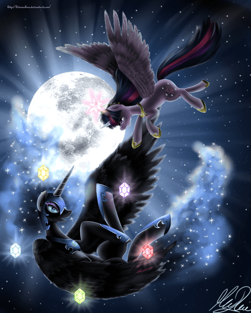 nightmare moon,Fan Art,twilight sparkle