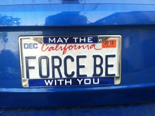 star wars license plates scifi - 7899488768