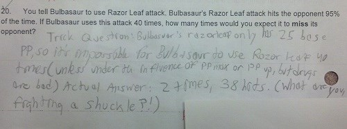 This Kid Killed This Pokémon Related Question