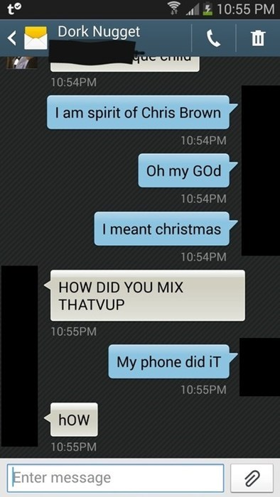 christmas autocorrect text chris brown AutocoWrecks g rated - 7899654912