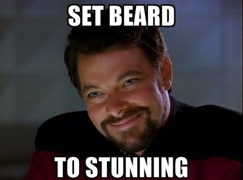 TNG beard Riker Star Trek - 7899692544