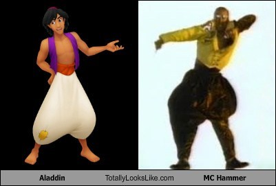 aladdin pants mc hammer totally looks like