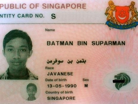 batman name superman singapore - 7900747264
