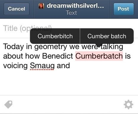 autocorrect benedict cumberbatch tumblr Sherlock - 7900869888