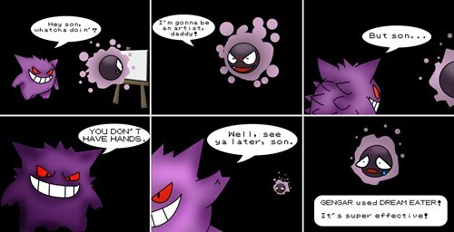 gengar gastly parenting web comics - 7901104384