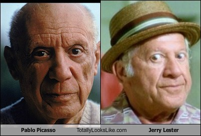 totally looks like pablo picasso jerry lester