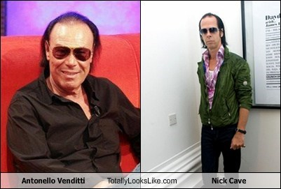 nick cave,funny,totally looks like,antonello venditti